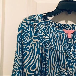 Lilly Pulitzer Camille Top - Night Swimming XL